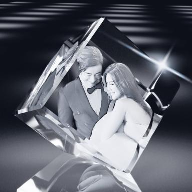 3D Crystal Cut Corner Diamond