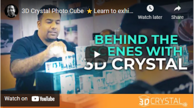 3D Crystal Photo Cube ⭐Learn to exhibit⭐