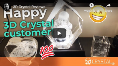 Happy 3D Crystal customer!
