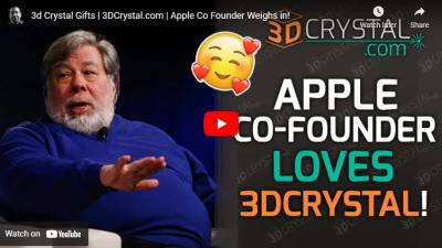 Apple CO-FOUNDER Mr. Steve Wozniak Weighs in on 3dcrystal.com