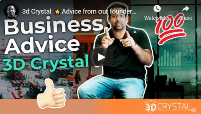 3d Crystal ⭐Advice from our founder⭐