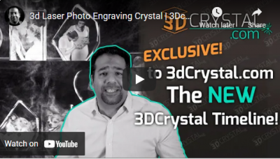 3d Laser Photo Engraving Crystal