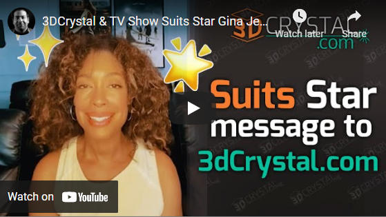 Suits Star message to 3DCrystal.com