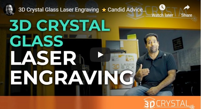 3D Crystal Glass Laser Engraving ⭐Candid Advice⭐