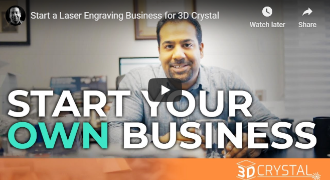 Start a Laser Engraving Business for 3D Crystal